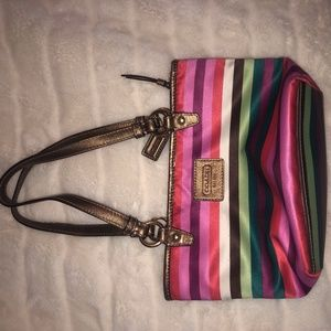 Authentic Coach Multicolored Purse